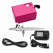 Airbrush-Makeup-Set-with-Mini-Compressor-Pinkiou-04mm-Needle-Air-Brush-Nail-kit-SP16-RED-0-0