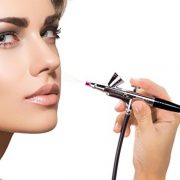 Airbrush-Makeup-Set-with-Mini-Compressor-Pinkiou-04mm-Needle-Air-Brush-Nail-kit-SP16-RED-0-2