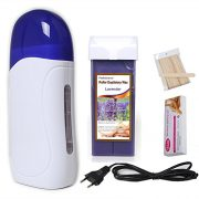 Mini-Wax-Heater-Pinkiou-Hair-Removal-For-Depilation-Roll-On-Portable-Epilator-Machine-Set-Wax-Machine1-Depilation-wax-1-Strips-50-Depilatory-sticks25-Lavender-0