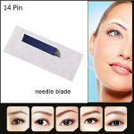 Pinkiou-Permanent-Makeup-Eyebrow-Hair-Stroked-Tattoo-Blade-14-Pin-Needles-for-Manual-Tattoo-Pen-Pack-of-50pcs-0