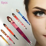 Pinkiou-Professional-Slant-tip-Eyebrow-Tweezers-beauty-cosmetic-makeup-clip-6-style-pack-of-6-pcs-Korea-0