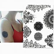 Pinkiou-Henna-Tattoo-Stickers-Lace-Mehendi-Temporary-Tattoos-for-Maverick-Women-Teens-Girls-Metallic-Tattooing-Pack-of-6-0-3