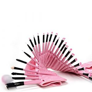 Pinkiou-Pink-Makeup-Contour-Brushes-Set-Blusher-Powder-Eyeliner-Eyeshadow-Eyebrow-Face-Brushes-Kit-32-Pieces-0