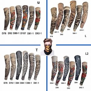 Pinkiou-Temporary-Tattoo-Fake-Arm-Sleeves-Outdoor-Sun-Protective-Cover-Body-Art-Arm-Accessories-1pcs-Windproof-Mask-6-pcs-Tattoo-Sleeves-0