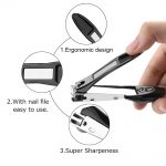 Nail Clippers Set with Catcher Shell Curved